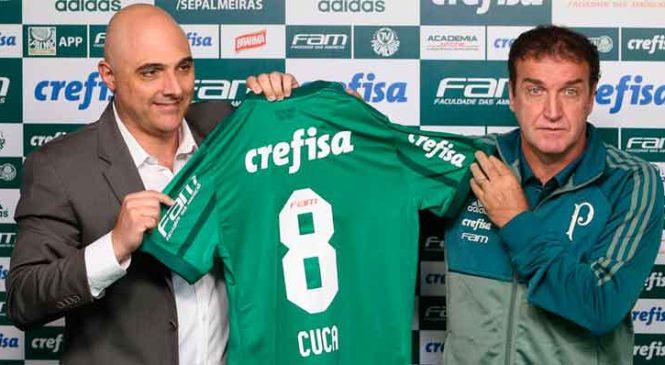Em apresentação no Palmeiras, Cuca diz voltar ao clube em momento de mais pressão