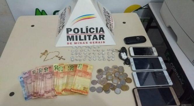 Em Unaí, dois são presos por tráfico de drogas no bairro Canaã