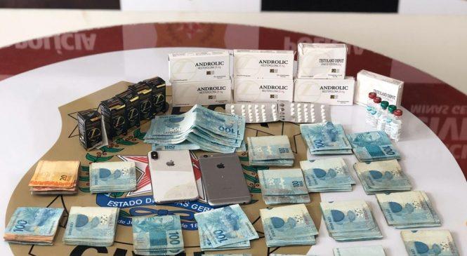 Em MG, dono de academia é preso por comercializar anabolizantes e polícia apreende R$ 21 mil