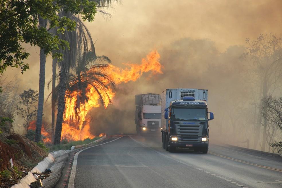 fogo rodovia