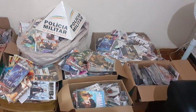 PM apreende 37 pacotes de cigarros contrabandeados e 24 mil CDs e DVDs piratas
