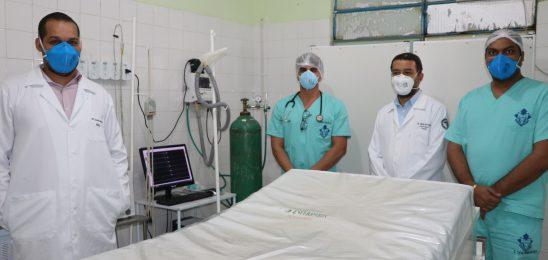 Na luta contra o coronavírus, Espinosa se reforça com dois respiradores.