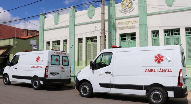 Prefeitura adquire mais duas ambulâncias para dar suporte à Saúde
